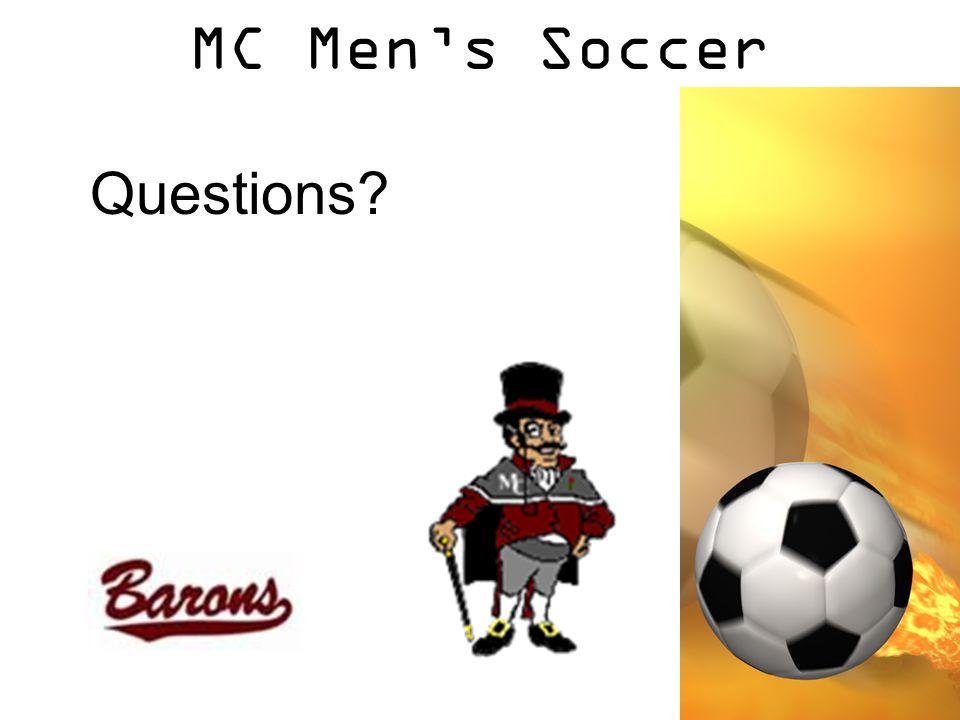 MC Men's Soccer Questions