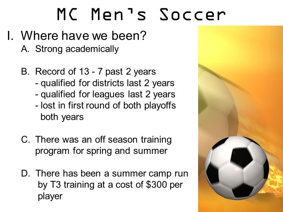MC Men's Soccer II.Where do we want to go.