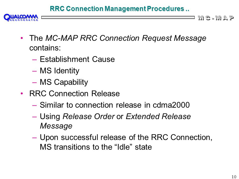 10 RRC Connection Management Procedures..