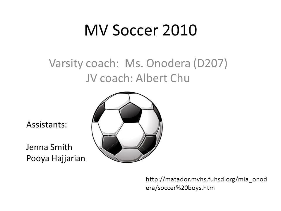 MV Soccer 2010 Varsity coach: Ms.