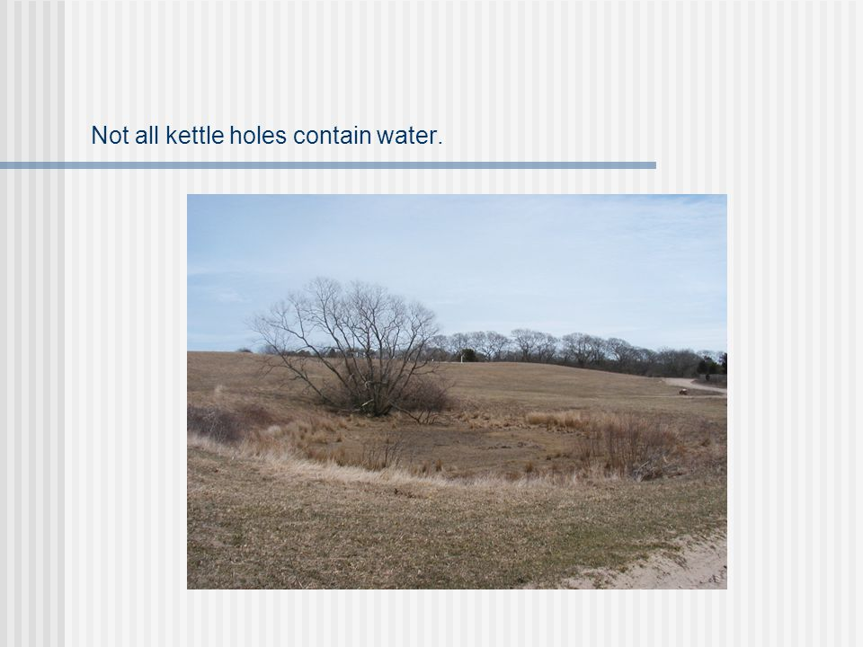 Not all kettle holes contain water.