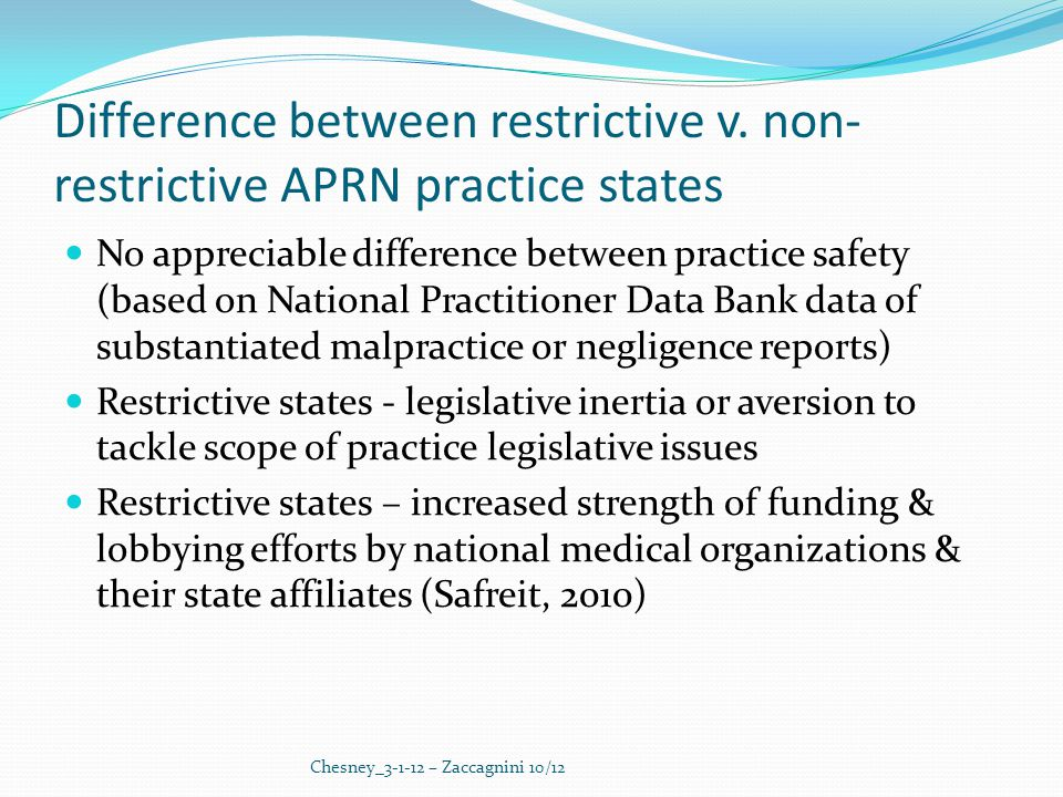 Difference between restrictive v.