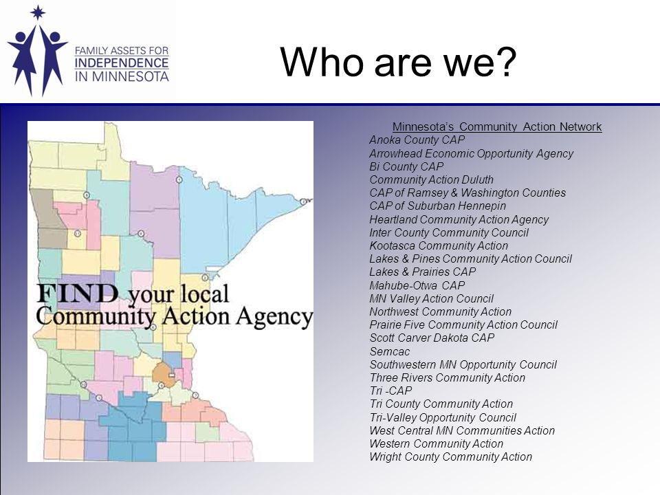 Demographics of MN FAIM Savers Gender & Income: 78% female Most at or below 145% FPL