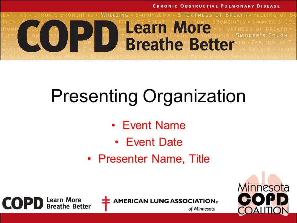 Minnesota COPD Coalition The American Lung Association of MN has launched the Minnesota COPD Coalition.