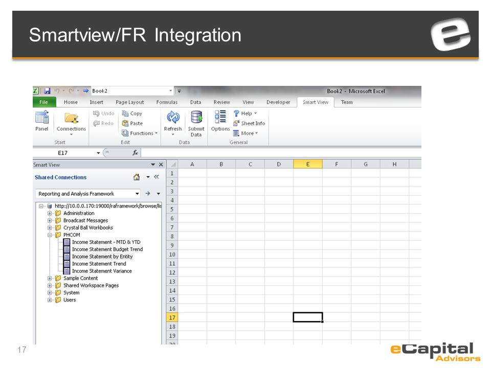 17 Smartview/FR Integration