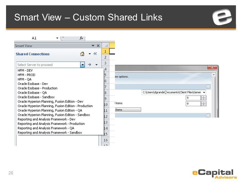 28 Smart View – Custom Shared Links