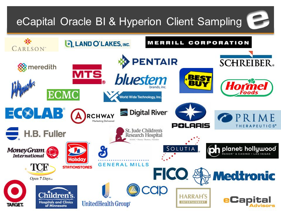 eCapital Oracle BI & Hyperion Client Sampling