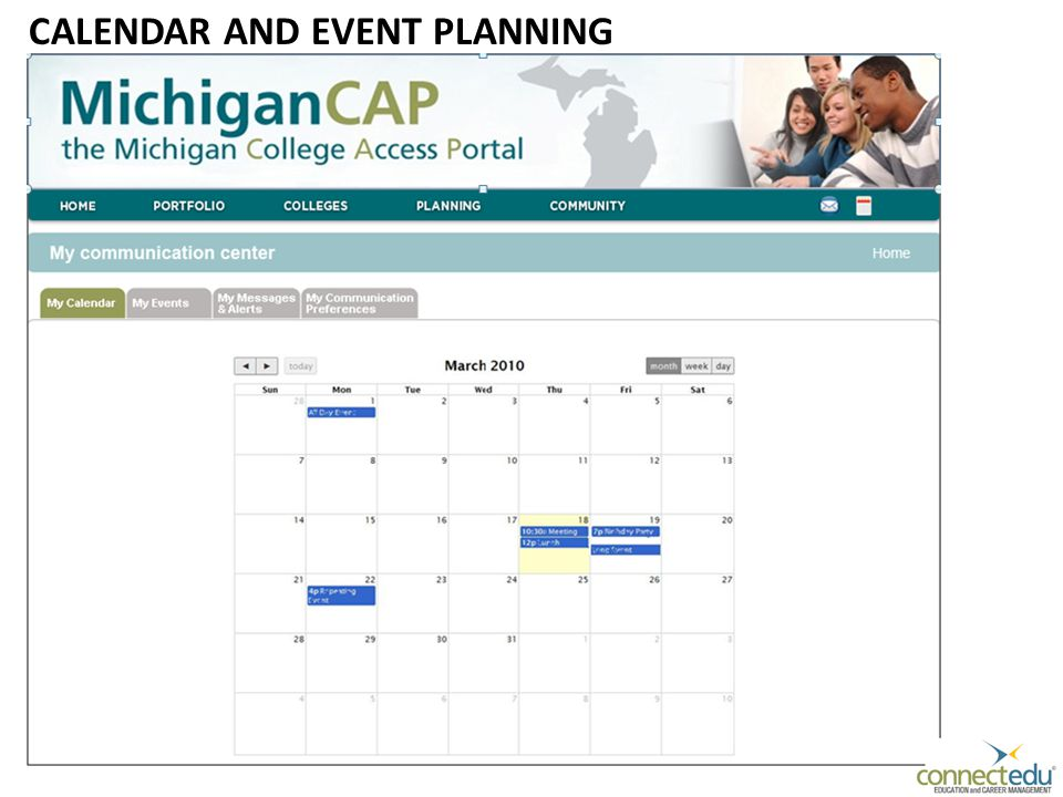 CALENDAR AND EVENT PLANNING