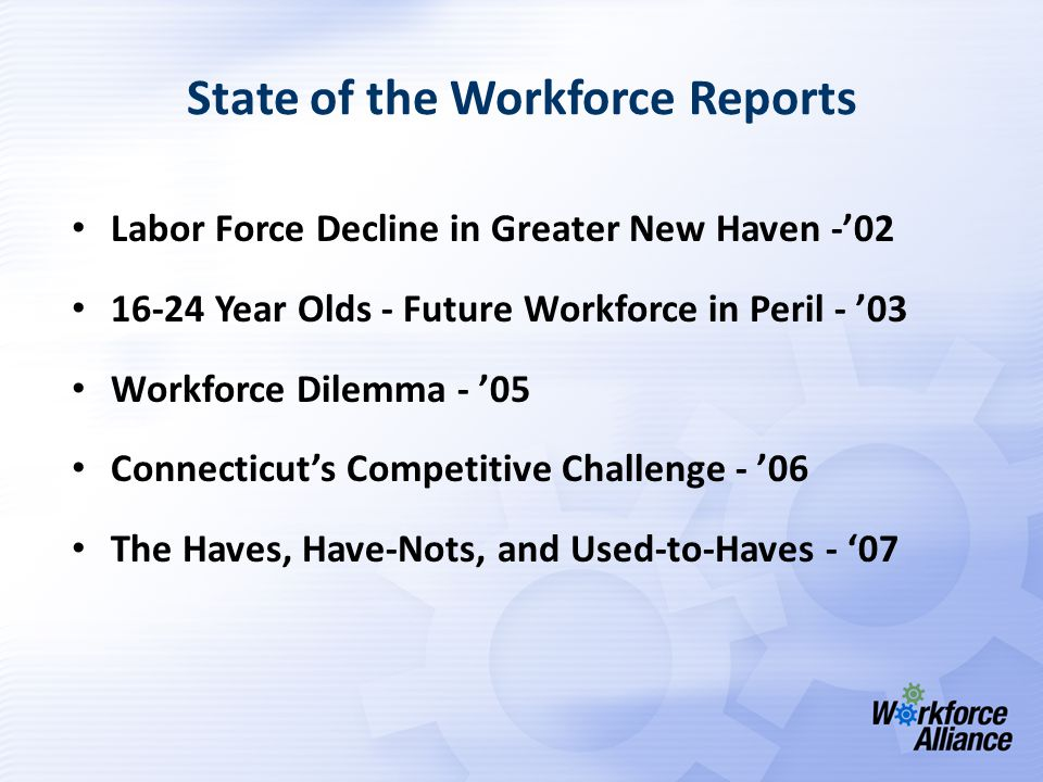 Population State of the Workforce 2007