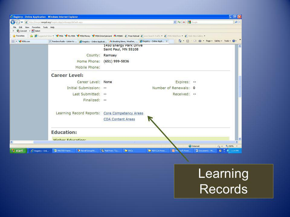 Learning Records
