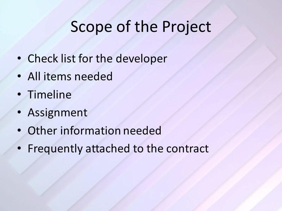 Scope  Logical Model Logical model – taken from the scope – Specific steps of what is needed – Tables – Forms, queries, reports – Data storage, availability, reliability, scalability – Security Access, permissions