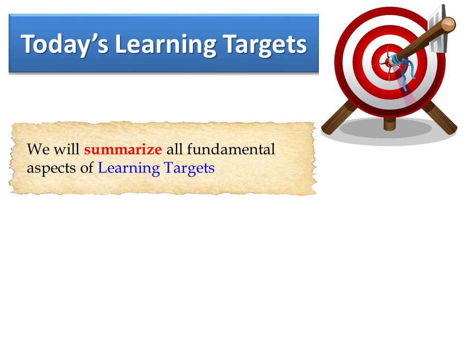 Why Learn About Learning Targets.