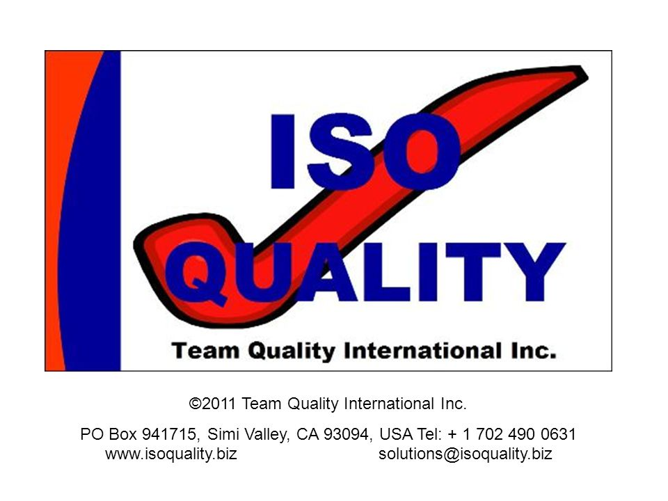 ©2011 Team Quality International Inc.