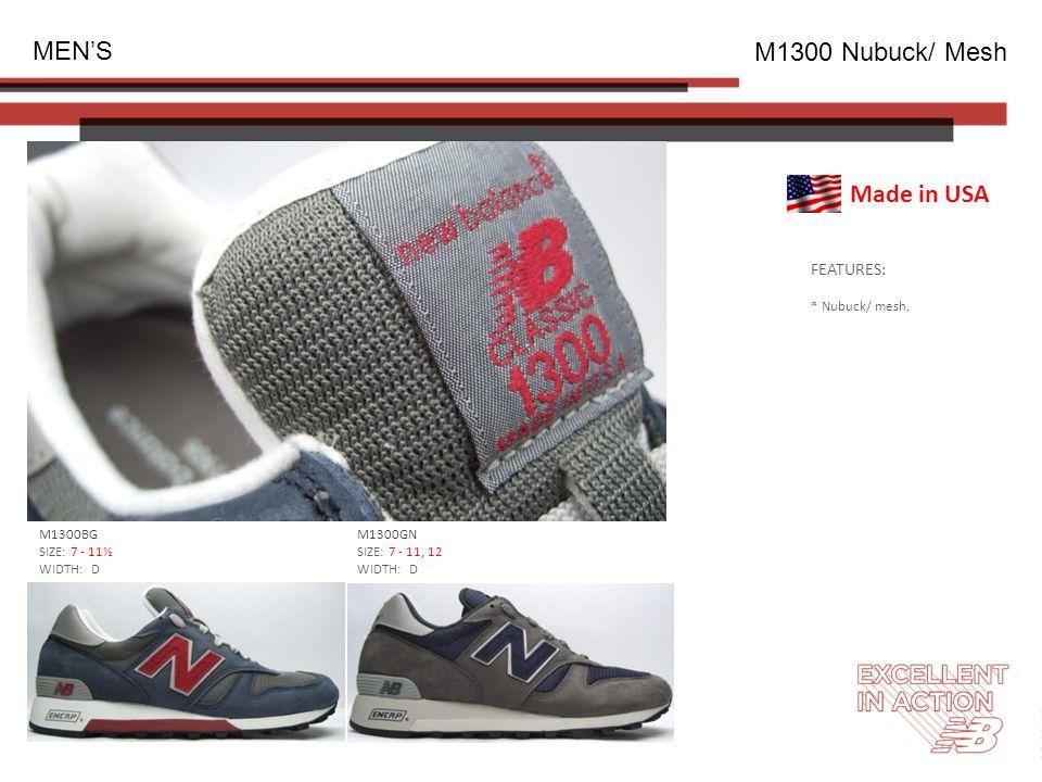 FEATURES: * Nubuck/ mesh.