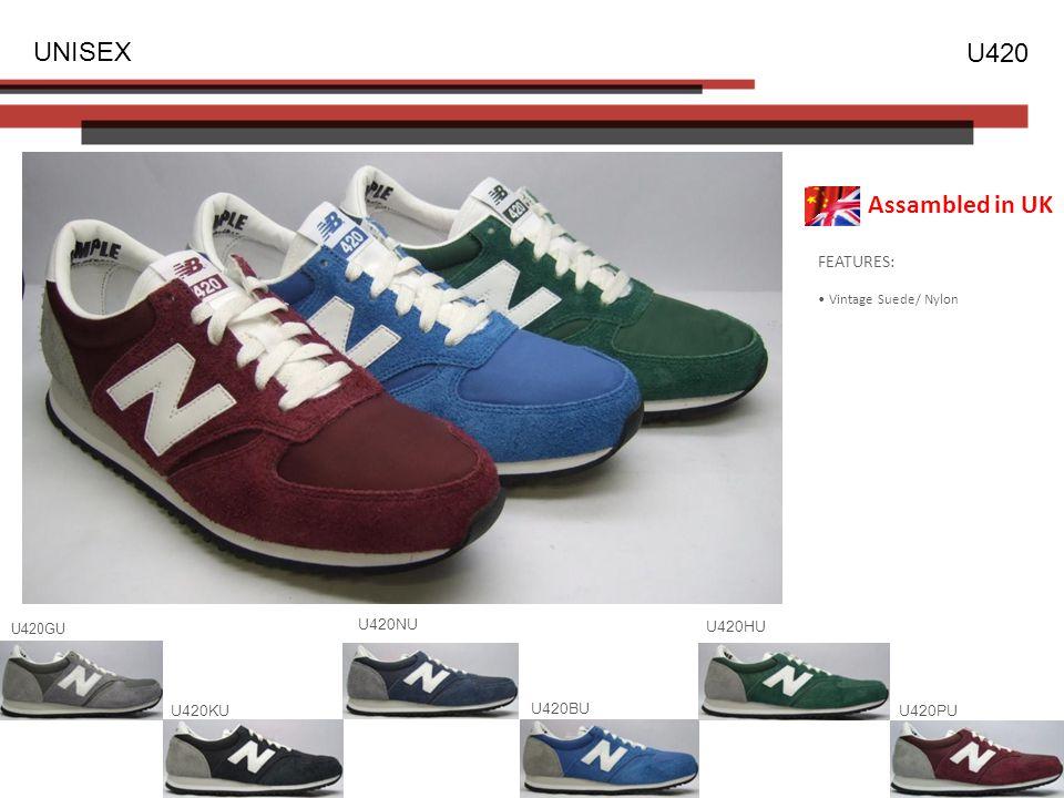 FEATURES: Vintage Suede/ Nylon UNISEX U420 U420GU U420BU U420NU U420KUU420PU U420HU Assambled in UK
