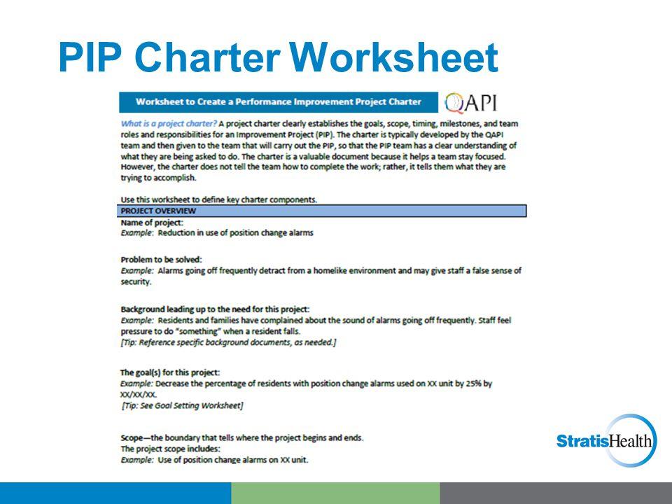 PIP Charter Worksheet