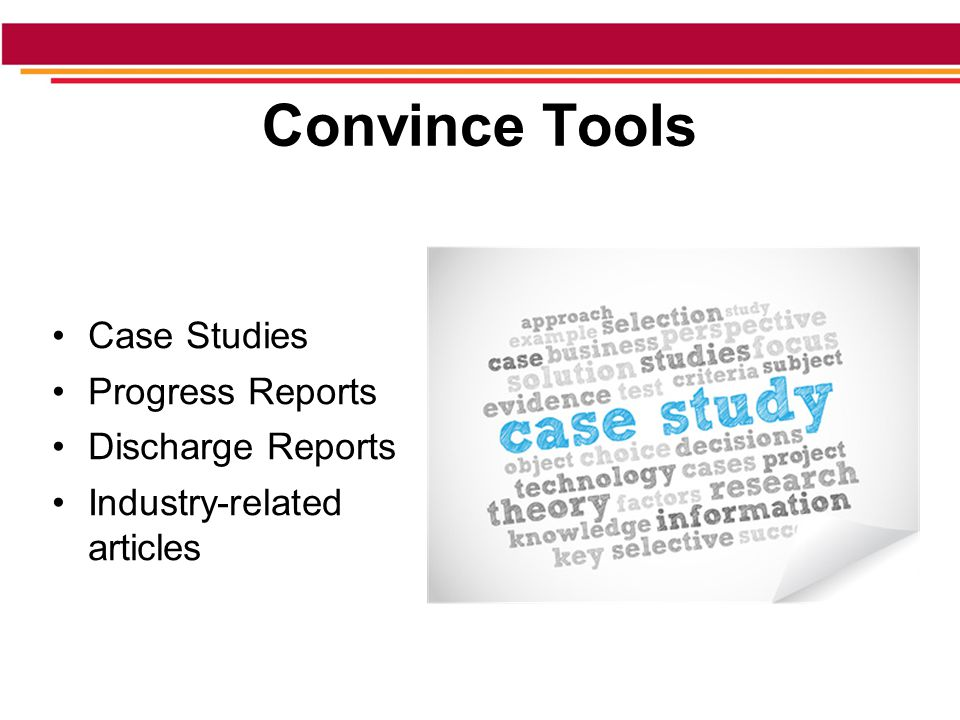 Convince Tools Case Studies Progress Reports Discharge Reports Industry-related articles