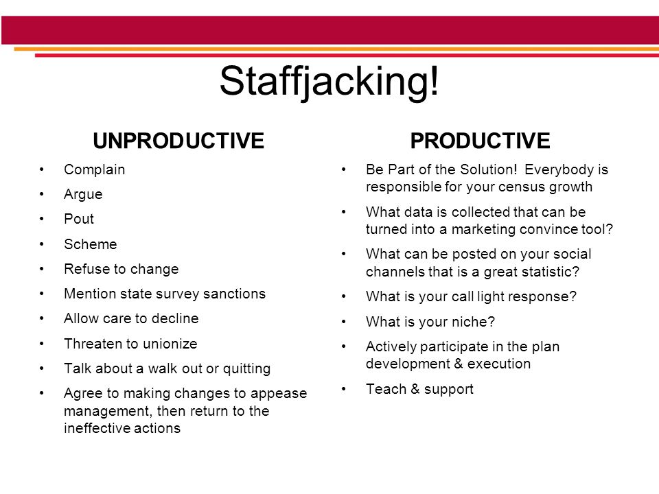 Staffjacking.