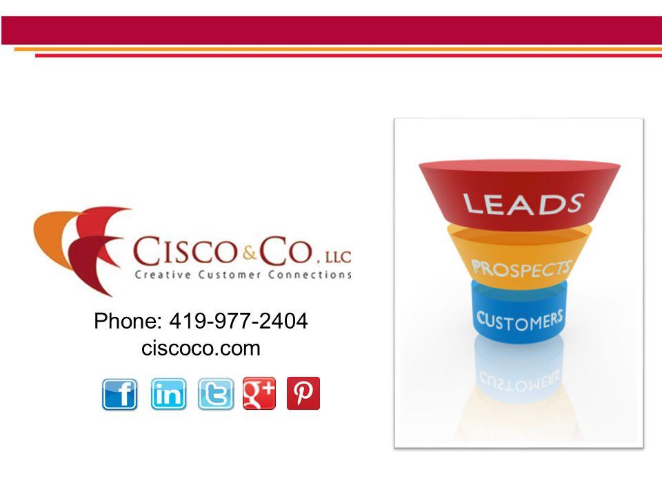 Phone: 419-977-2404 ciscoco.com