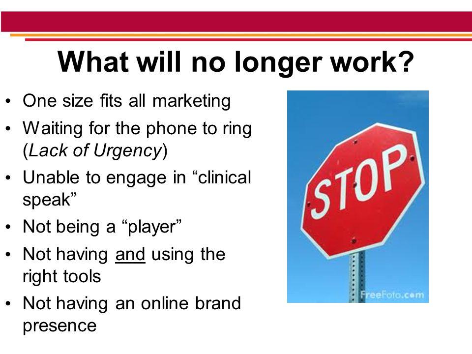 What will no longer work.