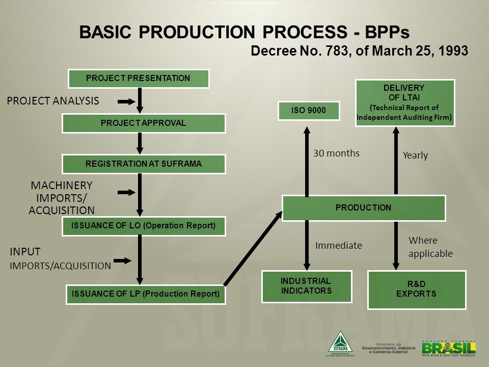 BASIC PRODUCTION PROCESS - BPPs Decree No.