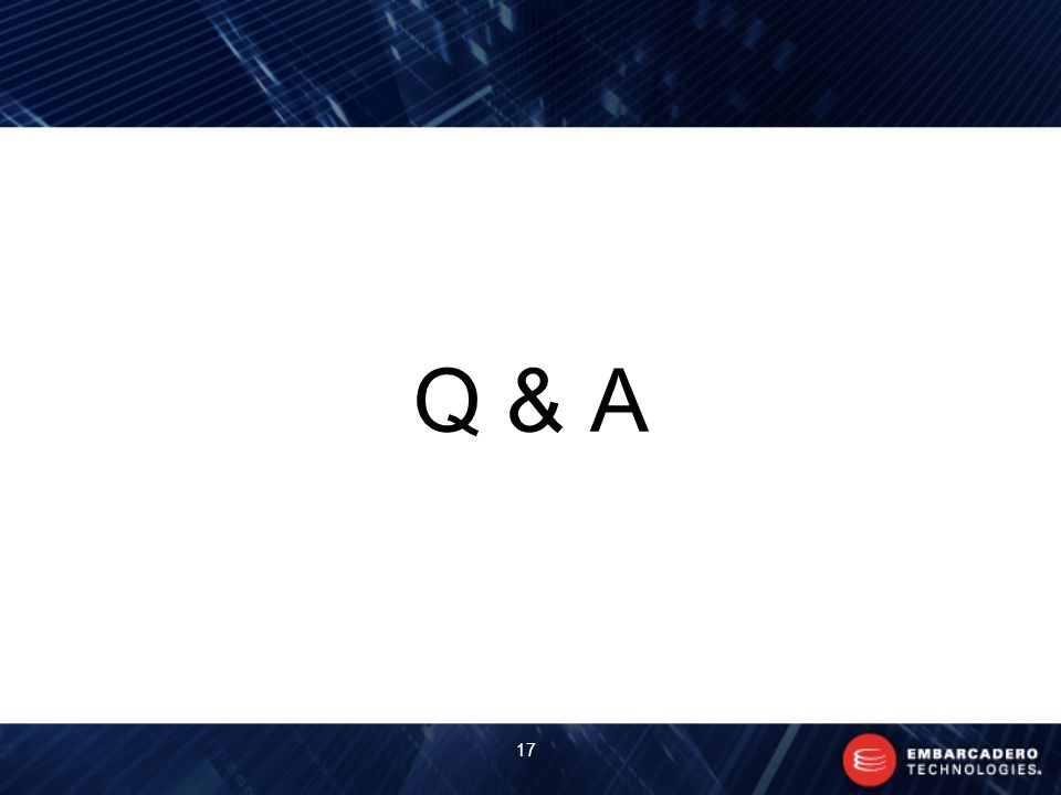 Q & A 17