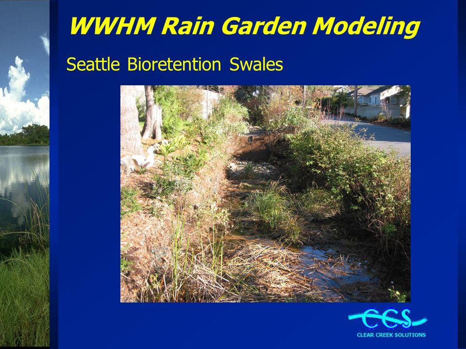 WWHM Rain Garden Modeling Seattle Bioretention Swales