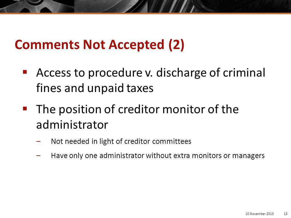  Access to procedure v.