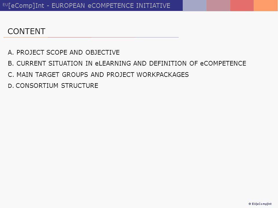 EU [eComp]Int - EUROPEAN eCOMPETENCE INITIATIVE CONTENT A.
