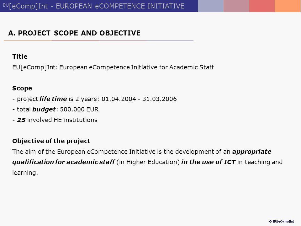 EU [eComp]Int - EUROPEAN eCOMPETENCE INITIATIVE A.