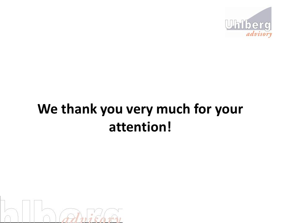 We thank you very much for your attention!