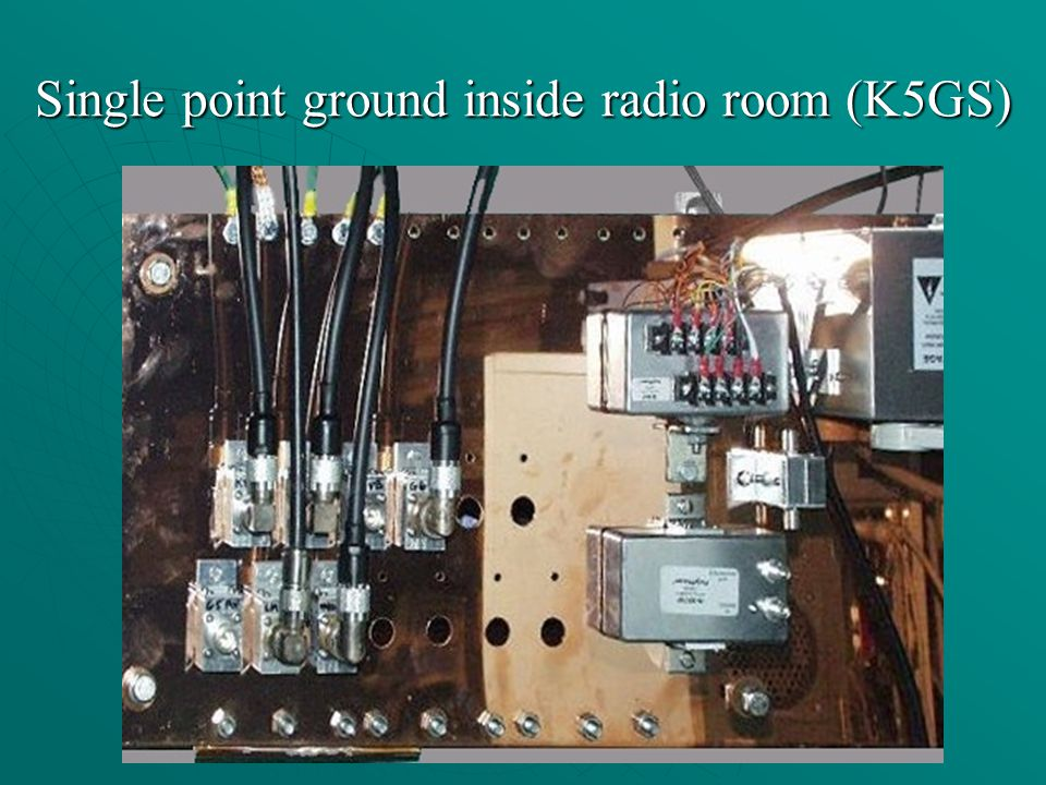 Single point ground inside radio room (K5GS)