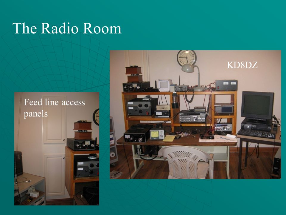 The Radio Room KD8DZ Feed line access panels