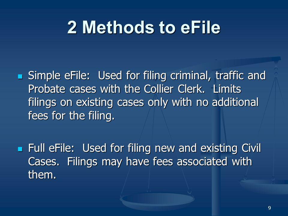 30 Full eFiling (Civil) Existing - Documents Tab