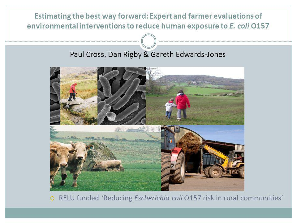 Estimating the best way forward: Expert and farmer evaluations of environmental interventions to reduce human exposure to E.