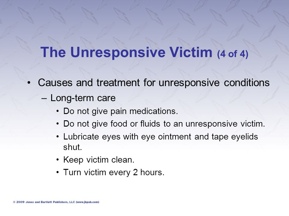 The Responsive Victim (1 of 3) What to look for: –Obtain details of the incident.