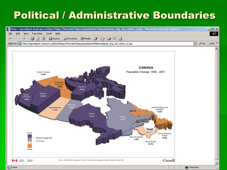 Ecozones/Ecoregions Drainage Basins/Drainage Sub-basins -Census of Population and Census of Agriculture statistics.