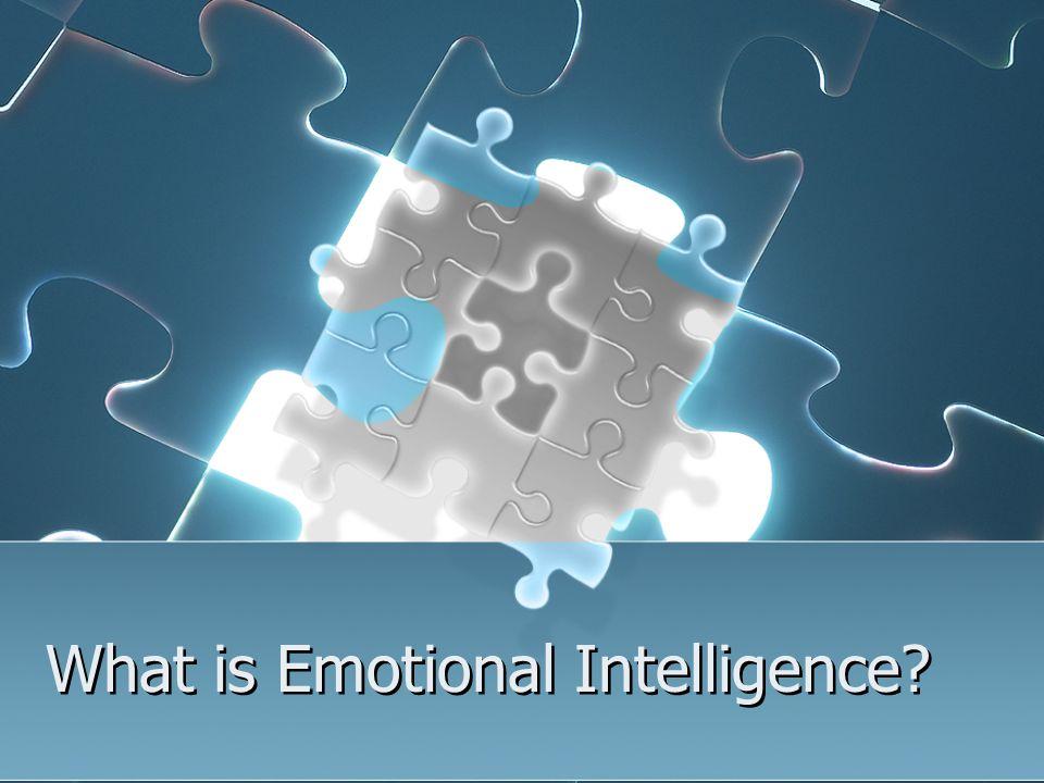 EQ involves self-awareness.