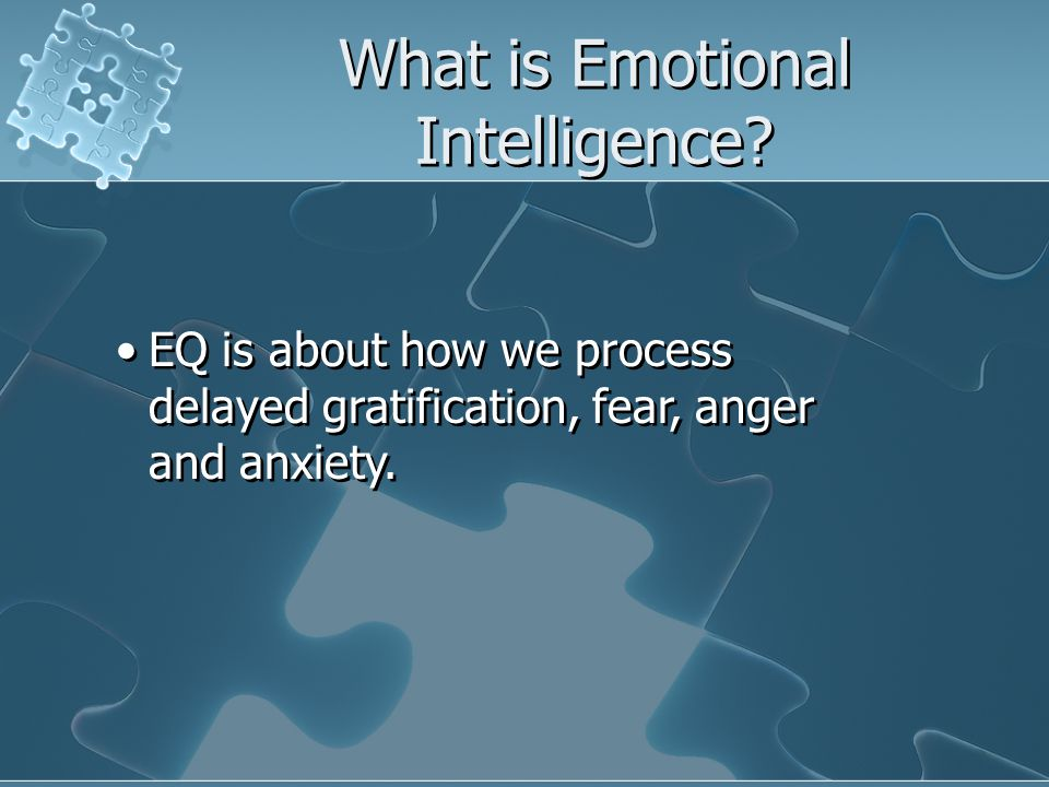 What is Emotional Intelligence.
