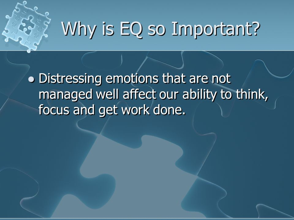 Two Major Categories of EQ Personal Competence Social Competence Personal Competence Social Competence