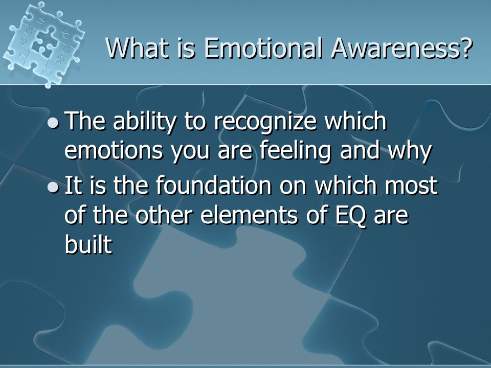 What is Emotional Awareness.