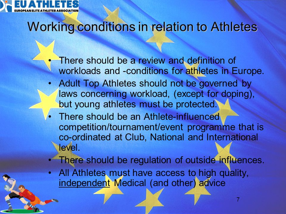 8 Dependent and perhaps undesired relationships surrounding Athletes Solutions need to be athlete centred with Athlete representation at all levels Definition of the roles of the coach and all people surrounding the athlete Establish an independent democratic advisory body for athletes Facilitate an ongoing process of information and education of the athletes and other related parties