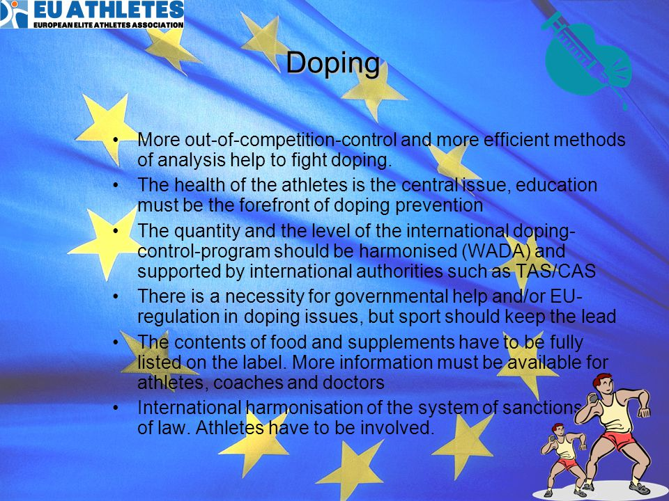 10 Athlete participation in the decision making process Athletes should be closer to, or ideally intimately involved in decisions which affect them A legitimate and strong athlete voice requires a legitimate and strong structure Athletes must endeavour to support and enhance existing athlete structures and seek partnerships which add to their experience The aims and objectives of athletes may, in the long term, be best served by the creation of a truly independent athlete organisation