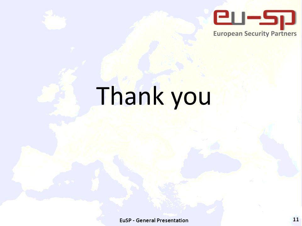 EuSP - General Presentation 11 Thank you