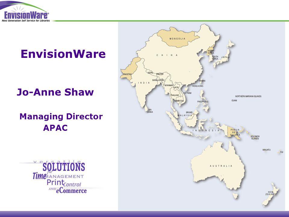 Jo-Anne Shaw Managing Director APAC EnvisionWare