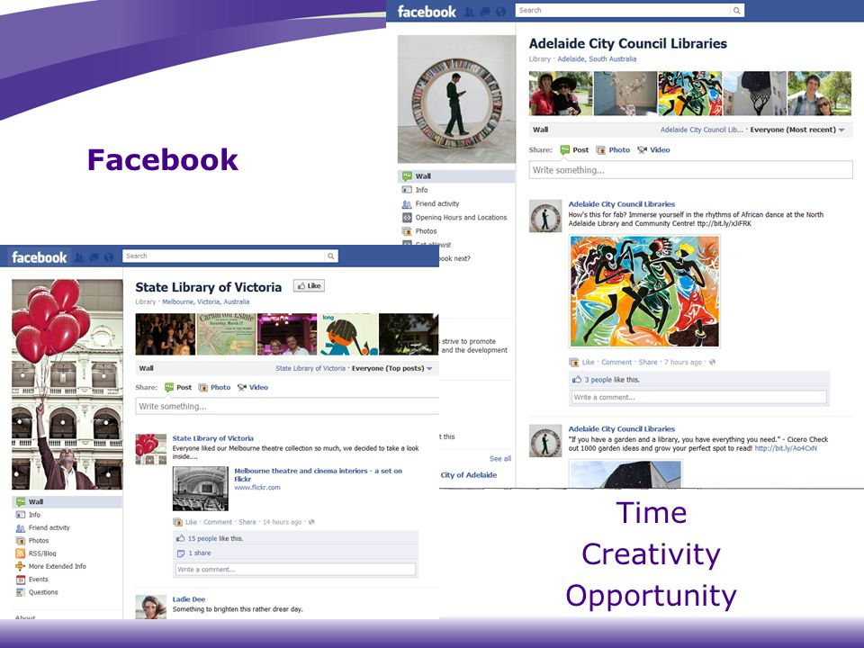 Facebook Time Creativity Opportunity