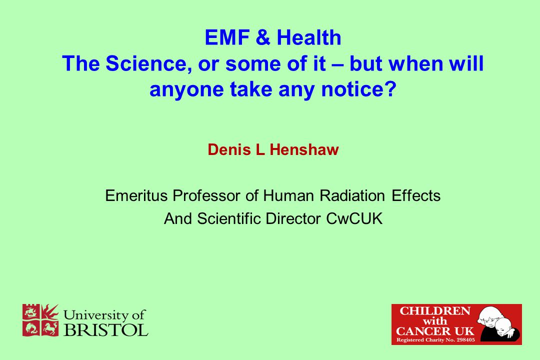 EMF & Health The Science, or some of it – but when will anyone take any notice.