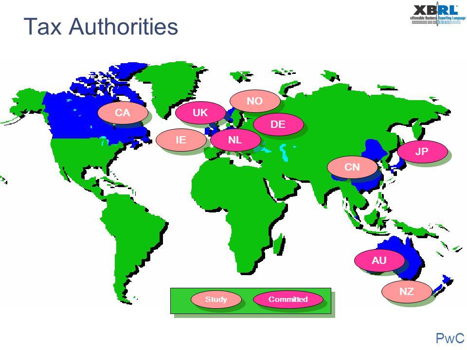 PwC CA UK IE AU NO JP NZ NL DE CN Tax Authorities Study Committed