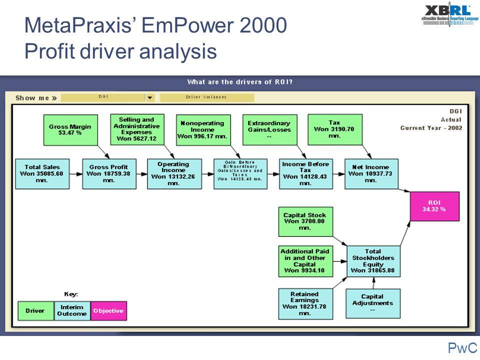 PwC MetaPraxis' EmPower 2000 Profit driver analysis