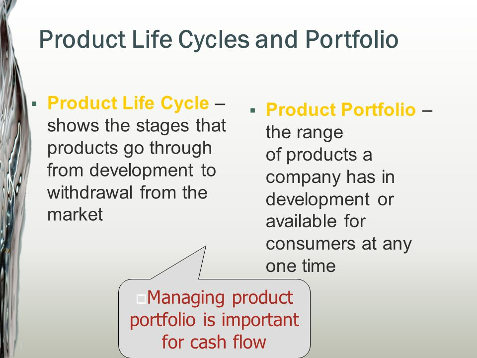 Each product may have a different life cycle PLC determines revenue earned Contributes to strategic marketing planning May help the firm to identify when a product needs support, redesign, reinvigorating, withdrawal, etc.